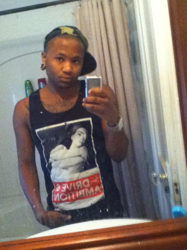 Drive & Ambition Slick Vick Tank Top male mirror selfie