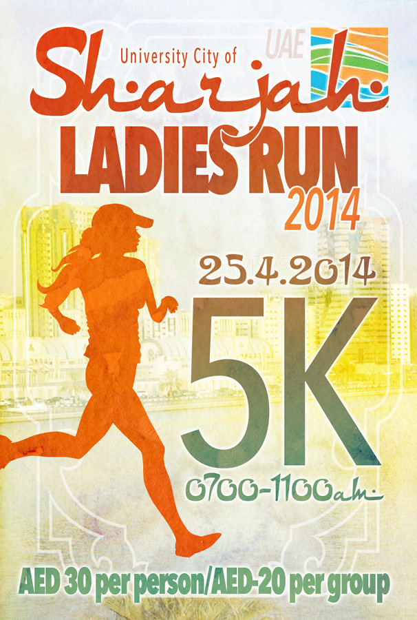 Sharjah Ladies Run 2014 Poster