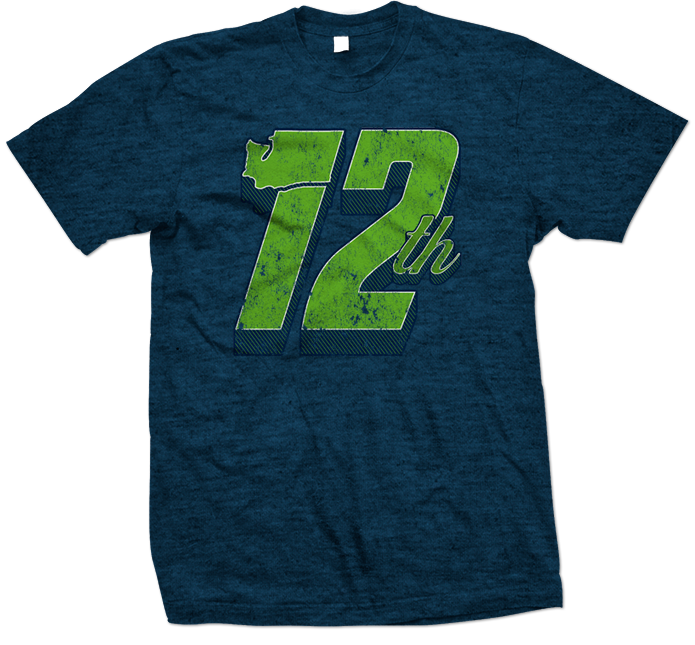 Seattle Seahawks 12th Man Design 695x645 Blue