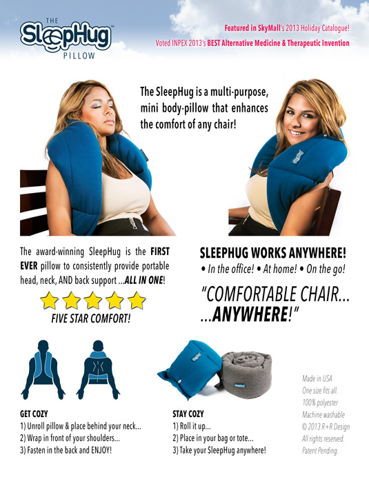 SleepHug Pillow Product Sell Sheet 535x692