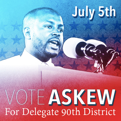 Vote Alex Askew For Delegate 90th District Square Ad 500x500