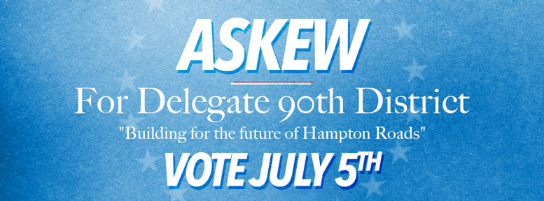 Vote Alex Askew For Delegate 90th District Banner 777x288