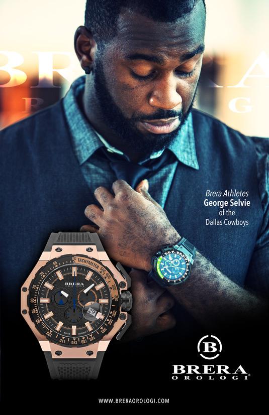 brera athletes george selvie dallas cowboys brera orologi wristwatch male model 535x827