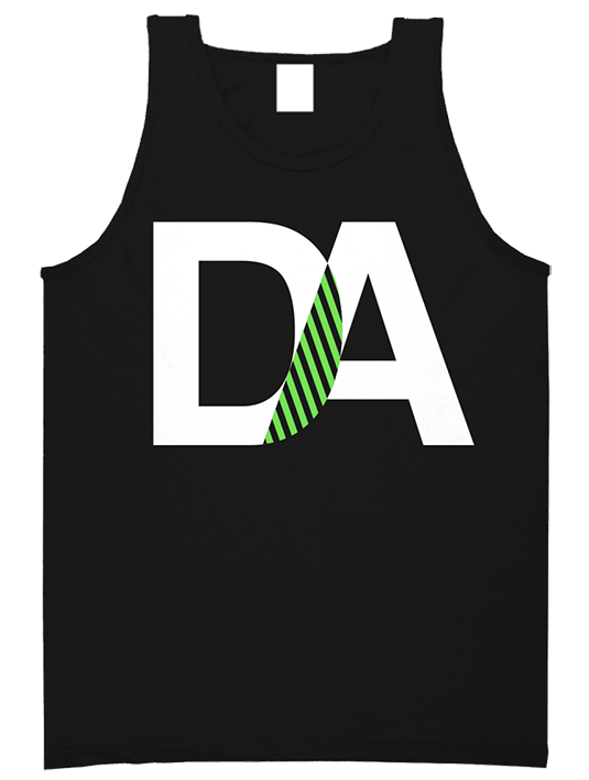 Drive & Ambition DA Tanktop black white neon green 535x463