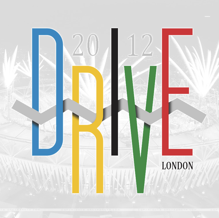 Drive & Ambition 2012 London Olympics T-shirt Design 700x696