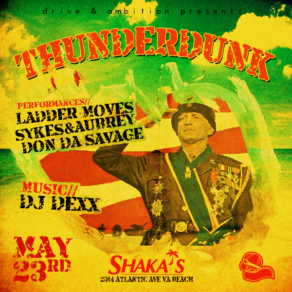drive and ambition thunderdunk event flyer 600x600