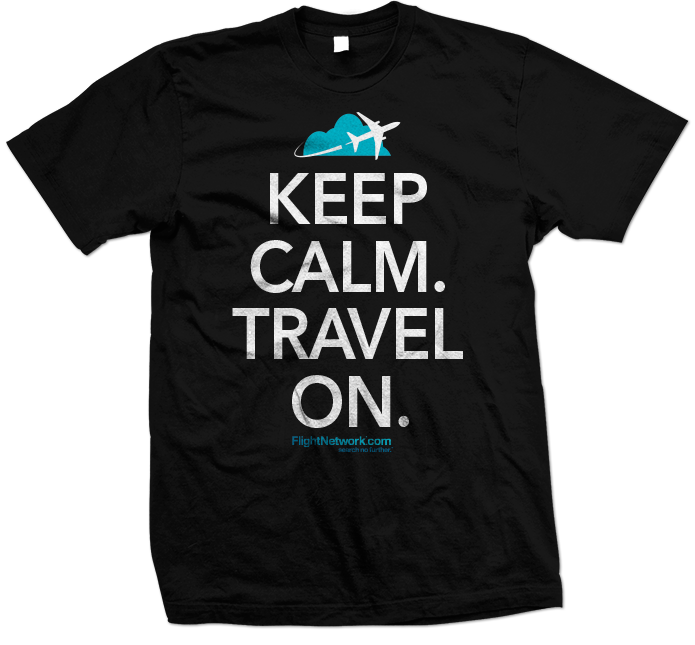Flight Network Keep Calm Travel On T-Shirt 695x645 black