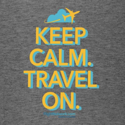 Flight Network Keep Calm Travel On T-Shirt 535x535 grey