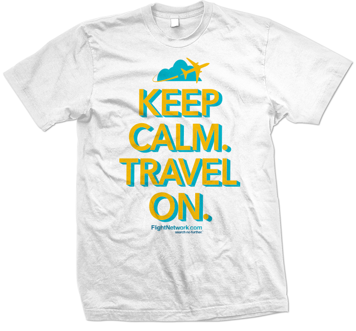 Flight Network Keep Calm Travel On T-Shirt 695x645 white
