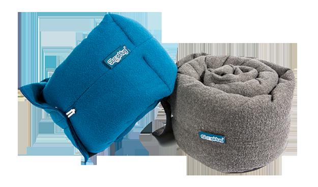 The SleepHug Pillow blue and grey version 625x369