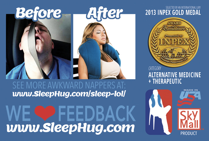 SleepHug Pillow 4x6 Promotional Flyer Back 700x474