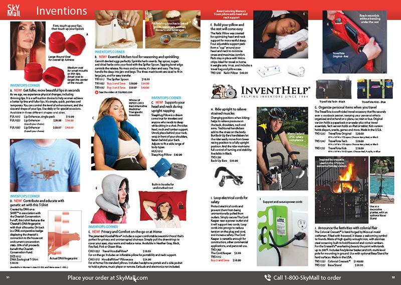 SleepHug Sky Mall In Flight Magazine Ad Inventor