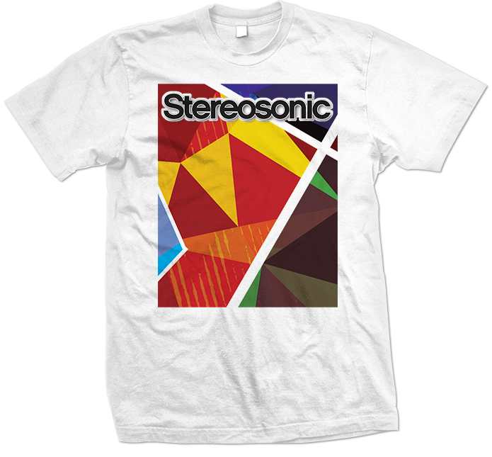 Stereosonic Sound Wall T-Shirt White 695x645