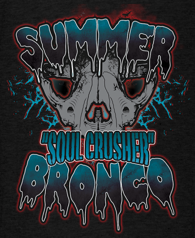 Alternate Summer Bronco Muay-Thai MMA Female Fighter T-shirt 600x730