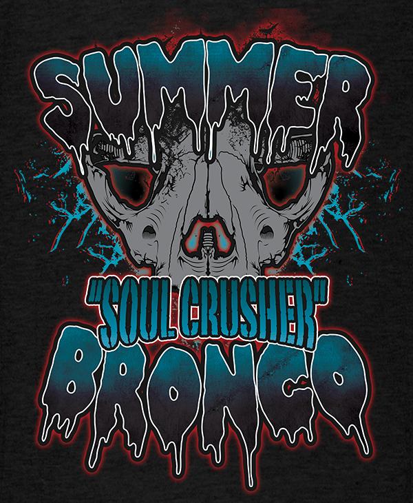 Alternate Summer Bronco Muay-Thai MMA Female Fighter T-shirt 600x730