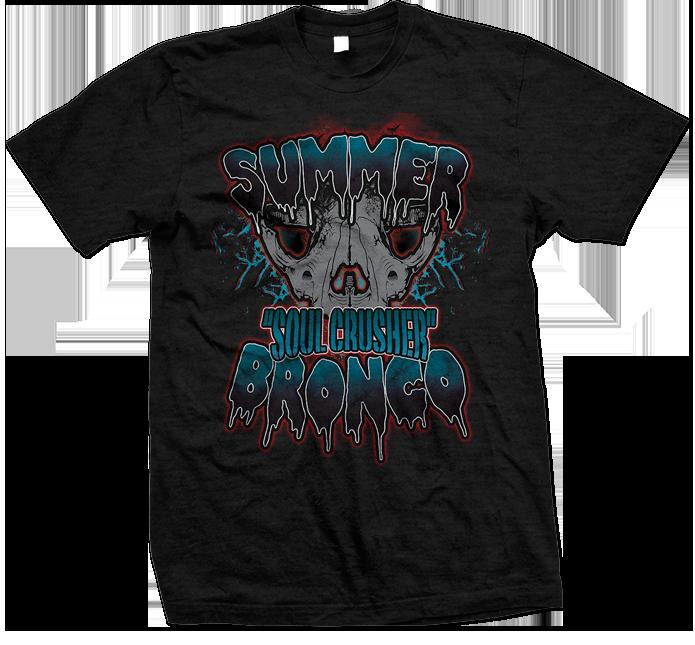 Alternate Summer Bronco Muay-Thai MMA Female Fighter T-shirt 695x645