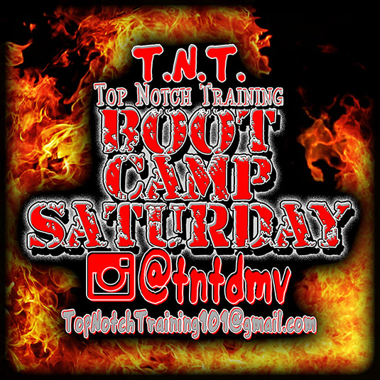 top notch training boot camp saturday workout flyer promo 535x535