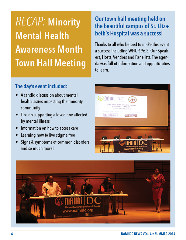 nami dc newsletter summer 2014 vol 4 8 pages 4 town hall meeting recap 612x792
