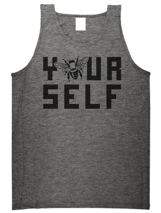 Hook & Porter Co Be Yourself Heather Grey T-Shirt 535x708