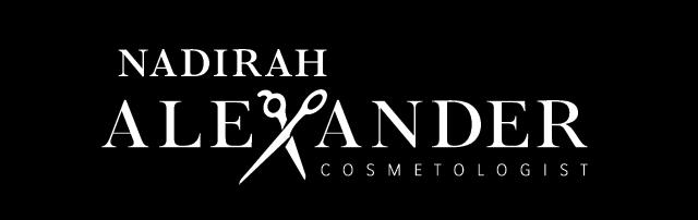 Nadirah Alexander Cosmetologist Logo Hair 640x202