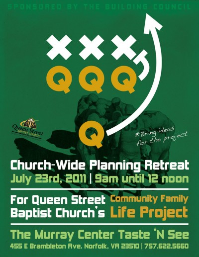 Queen Street Baptist Church 8.5x11 Planning Retreat Leaflet