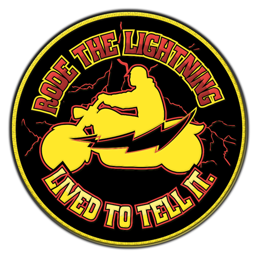 Rode The Lightning Lived To Tell It Biker Patch Motorcyle Lightning Survivor 525x525