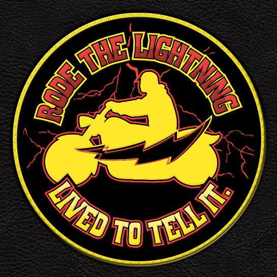 Rode the lightning biker patch ftwinn