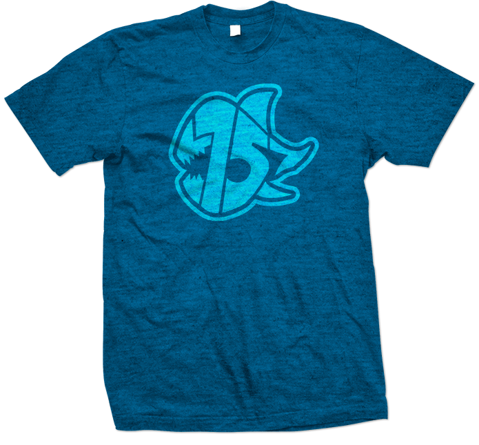 Seven Sharks Logo T-Shirt Heather Blue Tides Blue 695x645