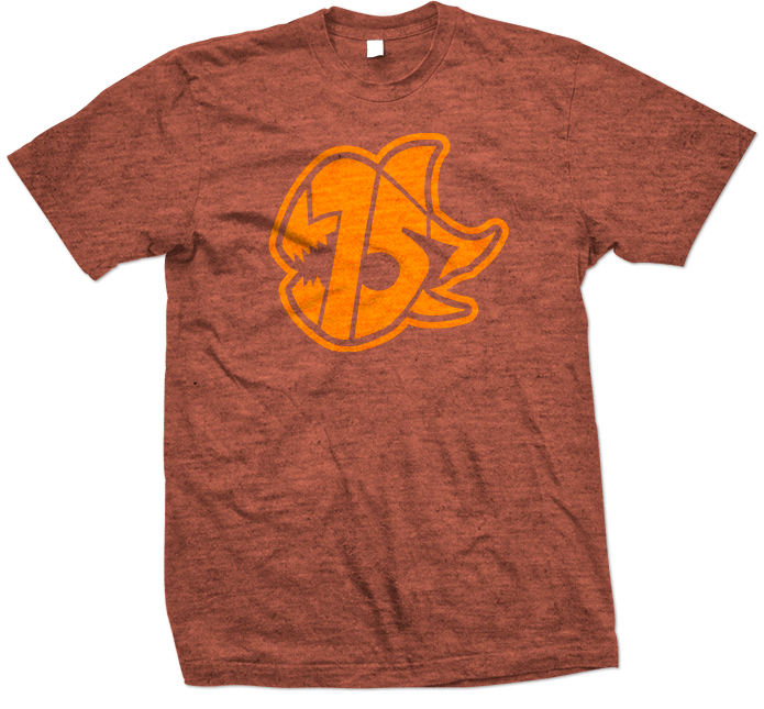 Seven Sharks Logo T-Shirt Heather Orange Orange 695x645