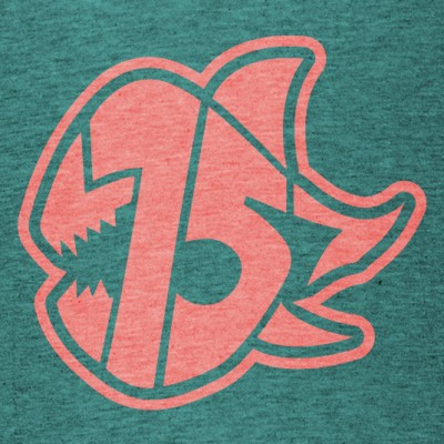 Seven Sharks Logo T-Shirt Heather Teal Peach 535x535