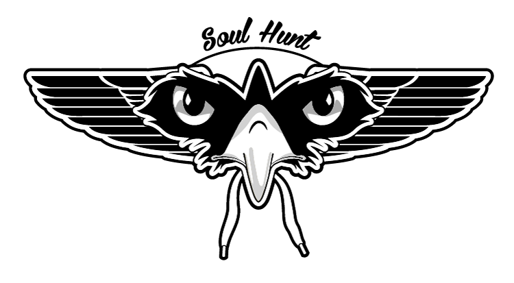 Sole Hunt Eagle Logo Black and White transparent Png 750x413