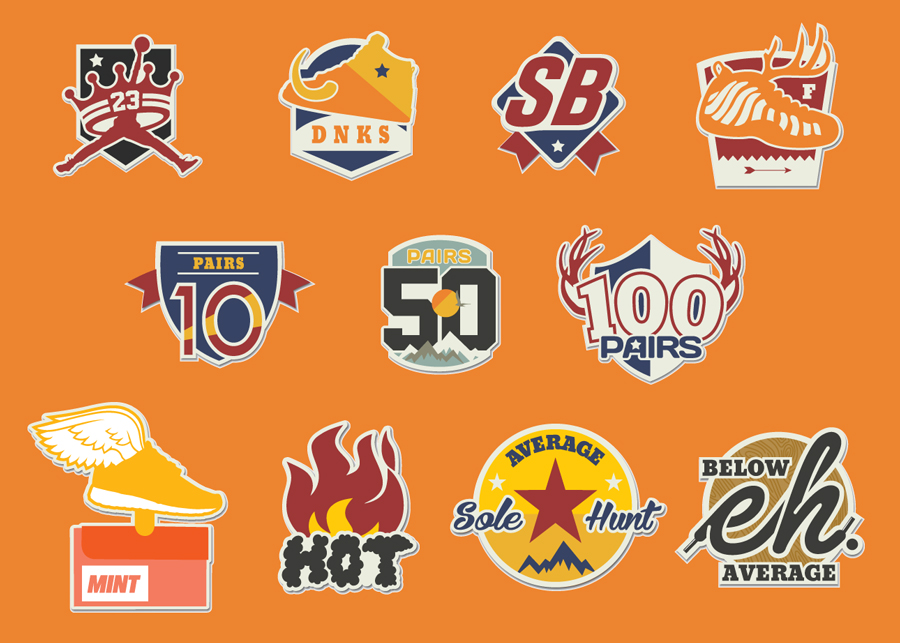 Sole Hunt Vector Web Icon Set 900x643