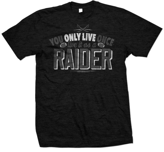YOLO you only live once oakland Raiders tshirt design 539x500