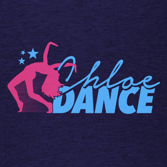 chloe dance dancer logo t-shirt design 535x535