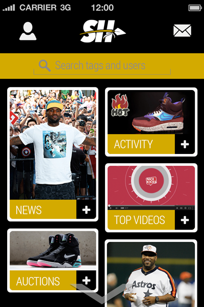 Sole Hunt Sneaker App Home Screen User Interface 400x600