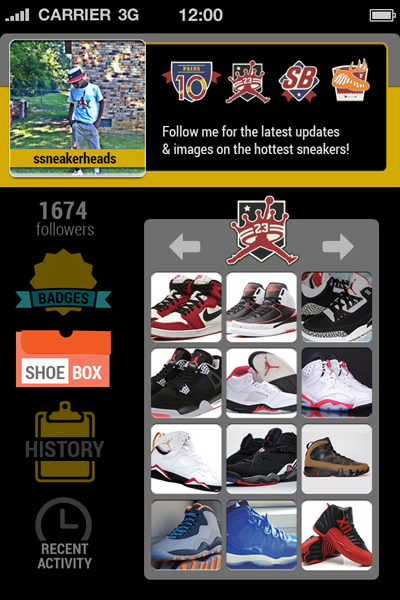 Sole Hunt Sneaker App Shoe Box Screen User Interface 400x600