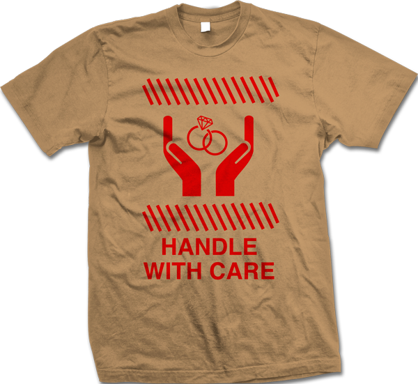 handle with care andy thompson promo tshirt design 600x551