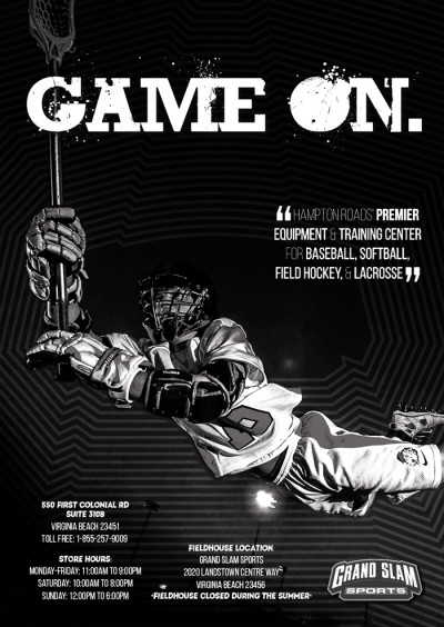 Grand Slam Sports Lacrosse Sponsorship Ad Design 700x987