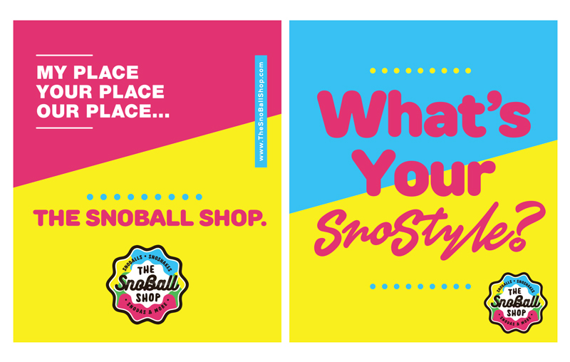 The Snoball Shop Poster Designs Marketing Collateral